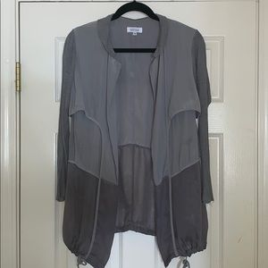 Barney's New York Gray Windbreaker